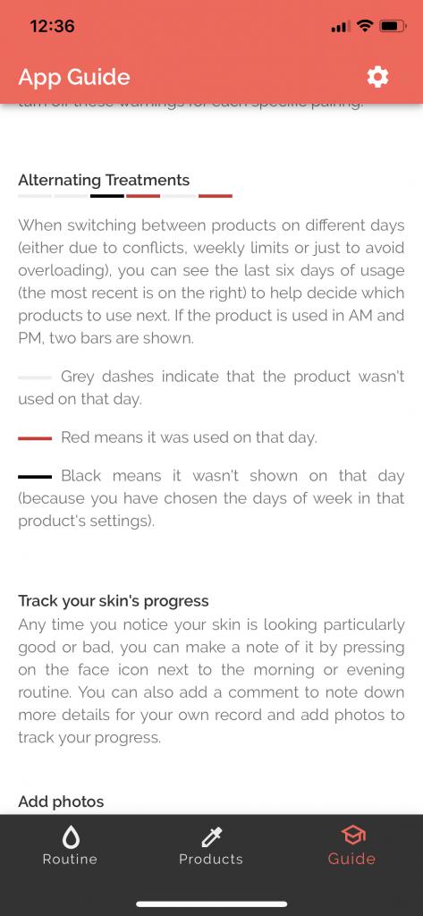 Aplicatia Skincare